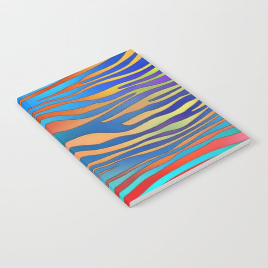 Colored Zebra Pattern Notebook