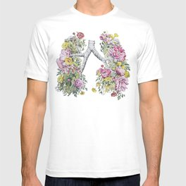 Floral Anatomy Lungs T-shirt