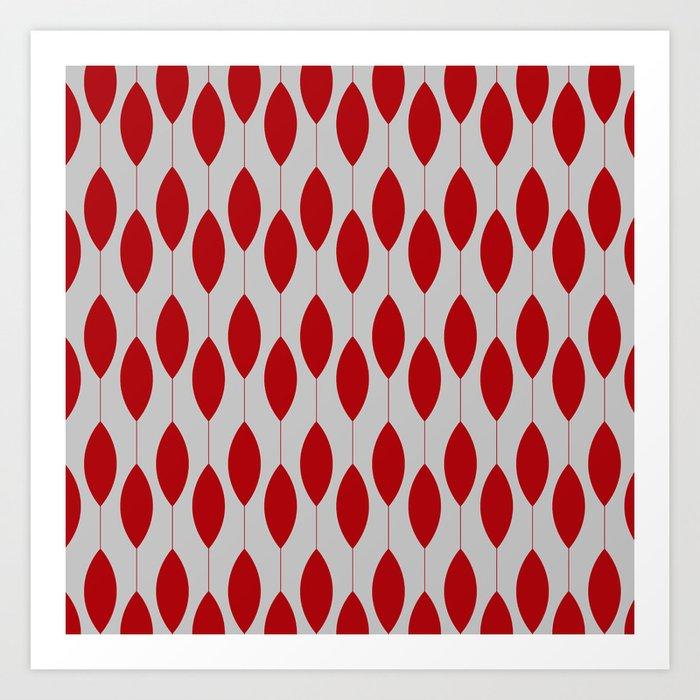 Rose petal drops modern pattern Art Print