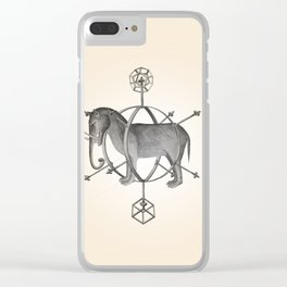 Caged Elephant Clear iPhone Case