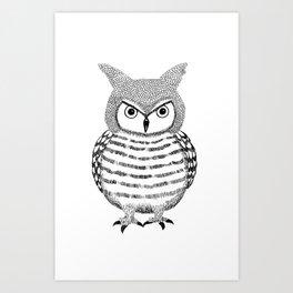 Tough Love Owl Art Print