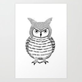 Tough Love Owl Art Print