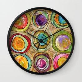 9 eggs Wall Clock