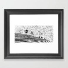Fingerprint - Stairway Framed Art Print