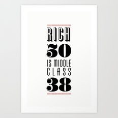 Rich 50 Art Print