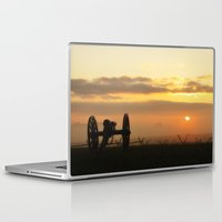 battlefield Laptop & iPad Skins featuring Sunrise on a foggy Battlefield by Captive Images Photography