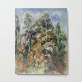 Rocks and Trees (Rochers et arbres) (ca1904) by Paul Cezanne Metal Print