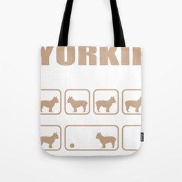 Stubborn Yorkie Tricks design Tote Bag