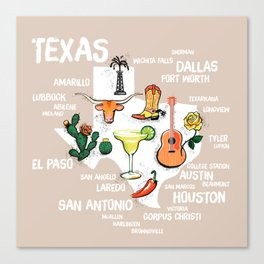 Classic Texas Icons Canvas Print