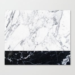 Marble Black & White Canvas Print