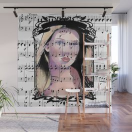 A Lady and Her Music Wall Mural