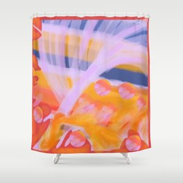 Scattered in Fountains Shower Curtain