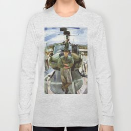 """Semper Paratus"" - ""Always There, Always Ready"" - Lt. Luciw of the R.I. Army National Guard Long Sleeve T-shirt"