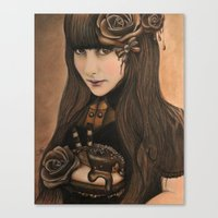 chocolate Canvas Prints featuring Chocolate by Sheena Pike ART