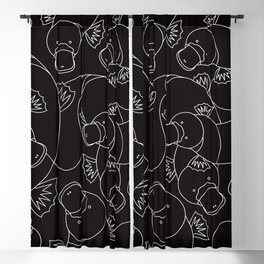 Minimalist Platypus Black and White Blackout Curtain