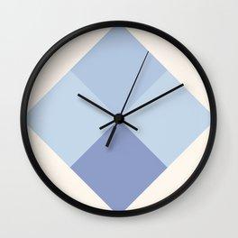 Blue Argyle Wall Clock