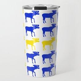 Graphic Swedish Moose Flag I Travel Mug
