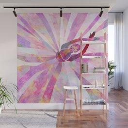 Sleeping Ballerina Floral Wall Mural