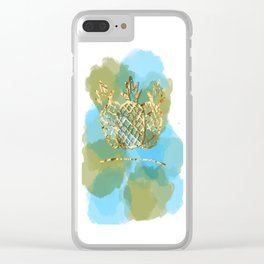 pineapple paradise Clear iPhone Case