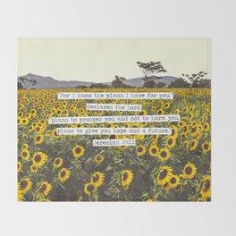 Jeremiah Sunflowers Throw Blanket