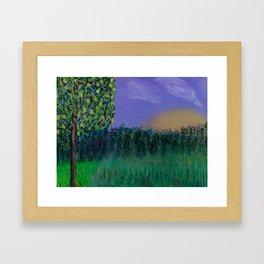 Backyard Sunrise Framed Art Print