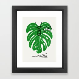 Monstera Framed Art Print