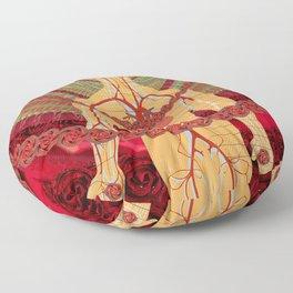 Risen Crimson Floor Pillow