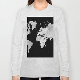 Design 70 world map Long Sleeve T-shirt