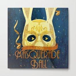1959 Vintage Rapture Masquerade Ball Advertisement Poster Metal Print