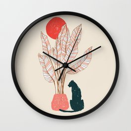 Summer panther Wall Clock