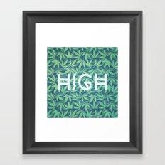 HIGH TYPO! Cannabis / Hemp / 420 / Marijuana  - Pattern Framed Art Print