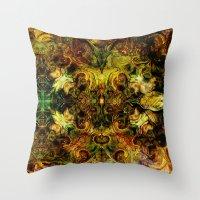 fibonacci Throw Pillows featuring Fibonacci 1 by Aleks7