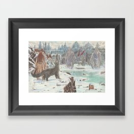 The Realm of the White Death. Framed Art Print