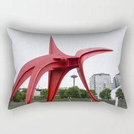RED needle Rectangular Pillow