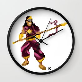 God of War - Karthikeya Pixel Art Wall Clock