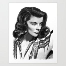 Katharine Hepburn Portrait Art Print