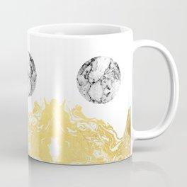 Bekke - abstract minimal white and gold modern art print canvas wall art for trendy urban minimalist Coffee Mug