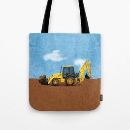 Construction Backhoe Tote Bag