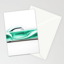 Vintage 1934 teal green Packard Eight 2/4-Passenger Coupe Stationery Cards