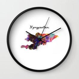 Kyrgyzstan Quote Art Design Inspirational Motivat Wall Clock