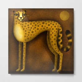 NIGHT CHEETAH Metal Print