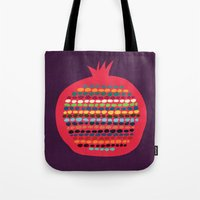pomegranate Tote Bags featuring Pomegranate by Picomodi