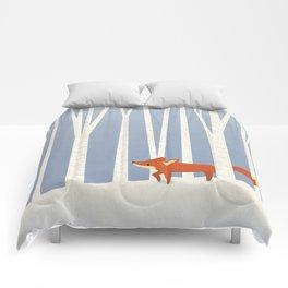Fox in the Snow Comforters