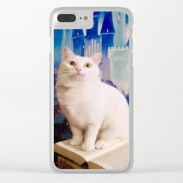 The tale of Tyche the white kitty Clear iPhone Case