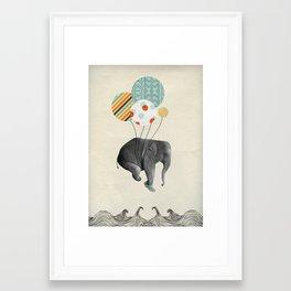 Ballon d'elephant Framed Art Print