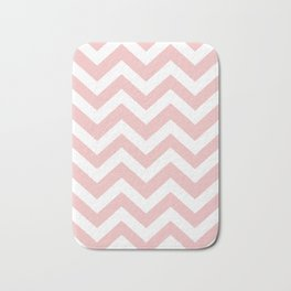 Tea rose - pink color - Zigzag Chevron Pattern Bath Mat