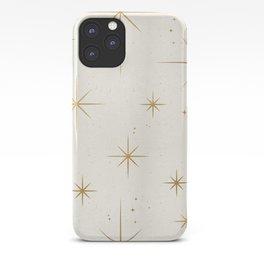 Seamless Pattern Glamorous White Gold Art Deco Stars Constellations Minimalist Geometric Pattern iPhone Case