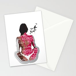 Love can damage your health Stationery Cards