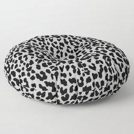 Neon Gray Leopard Floor Pillow