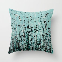 Blue jean Throw Pillow